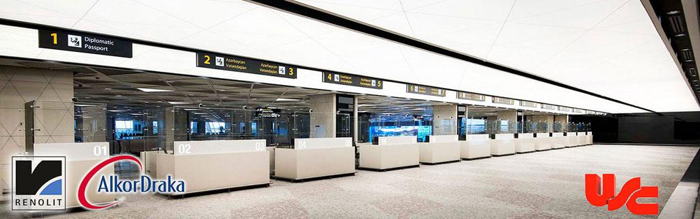 Baku Haydar Aliyev Uluslararası Hava Limanı Gergi Tavan Projesi