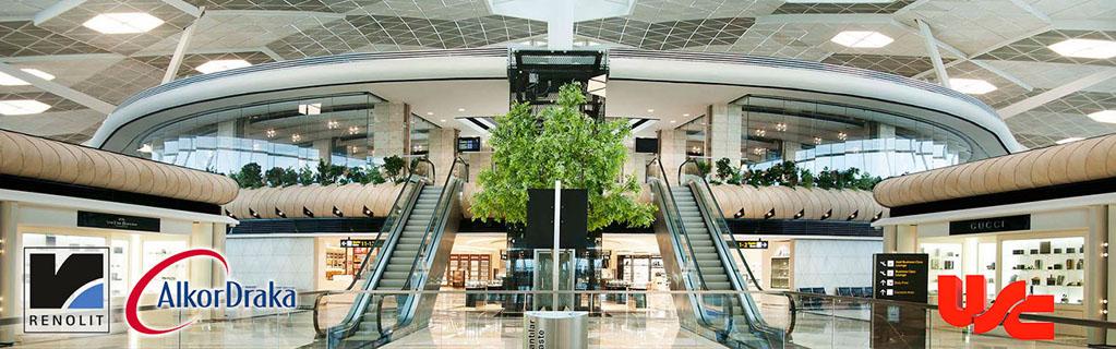 Baku Haydar Aliyev International Airport Gergi Tavan Projesi