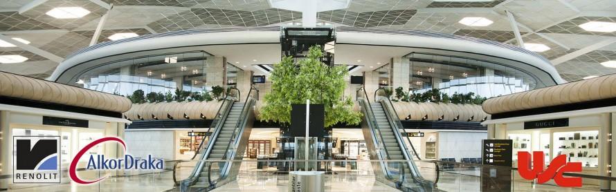 Bakü Haydar Aliyev Havalimanı Gergi Tavan Uygulamalarımız