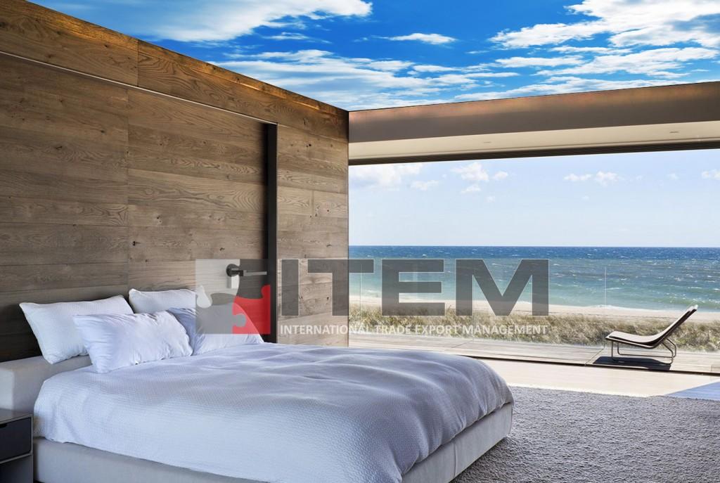Yatak odasında gökyüzü baskılı gergi tavan uygulama
