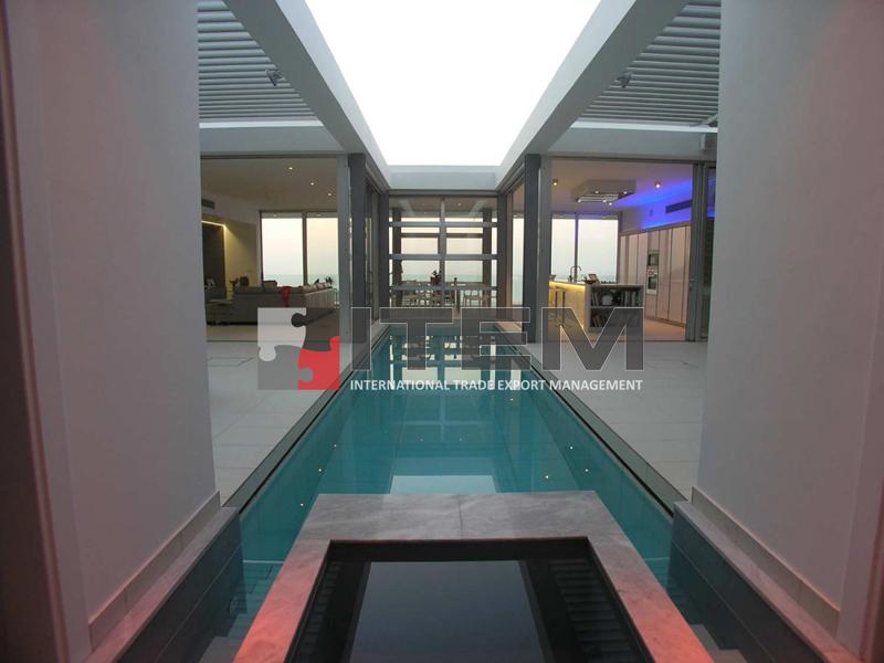 Villa havuz üzeri gergi tavan aydınlatması