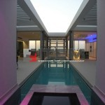 Villa havuz üzeri gergi tavan barisol
