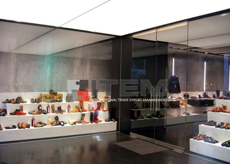 italyan ayakkabı mağazası gergi tavan aydınlatma