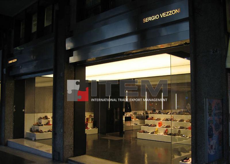 lüks italyan ayakkabı mağazası barisol gergi tavan aydınlatma