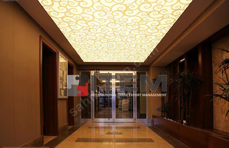 Babacan Yapı motif baskılı germe tavan uygulama