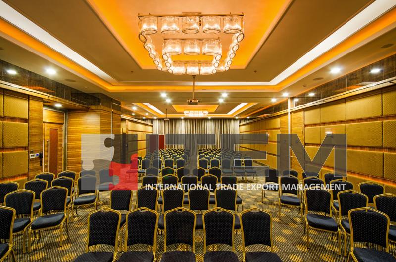 rescate hotel konferans salonu ışıklı gergi tavan uygulama