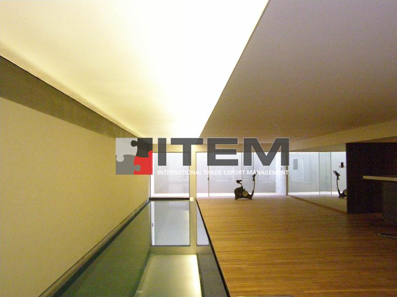 Translucent gergi tavan spor salonu uygulaması