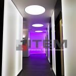 otel koridor mat translucent kombine dairesel gergi tavan uygulama