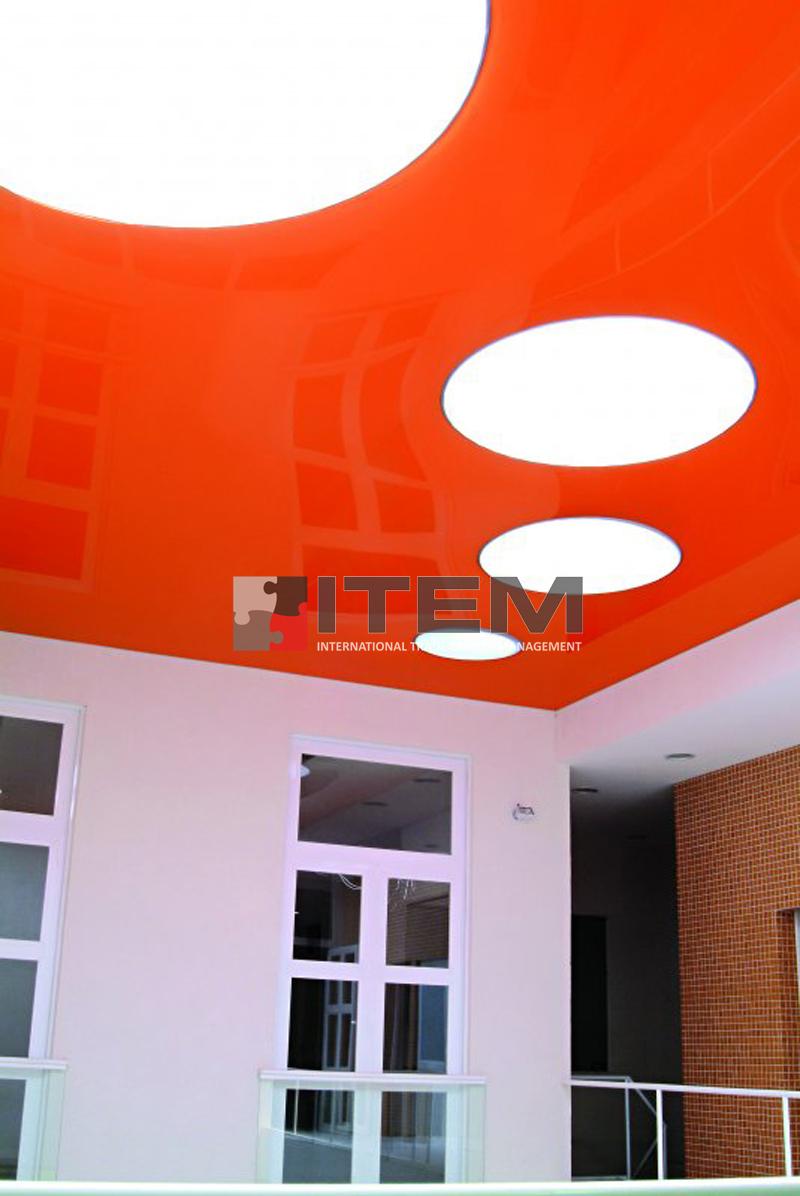 lake dairesel ışıklı kombine gergi tavan uygulaması