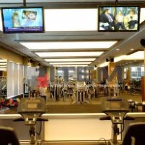 Spor merkezi translucent gergi tavan aydınlatması