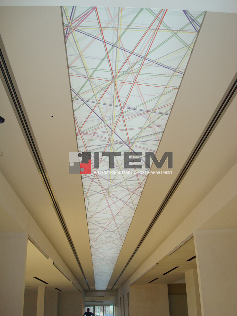 Örgü desenli barisol tavan uygulama Tutarlar Tekstil