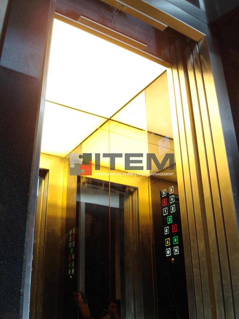 asansör içi ledli gergi tavan uygulama