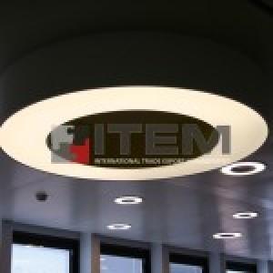 simit formlu gergi tavan aydınlatma armatürü
