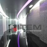 Koridor rgb değişen ışıklı gergi tavan ışık bandı uygulaması