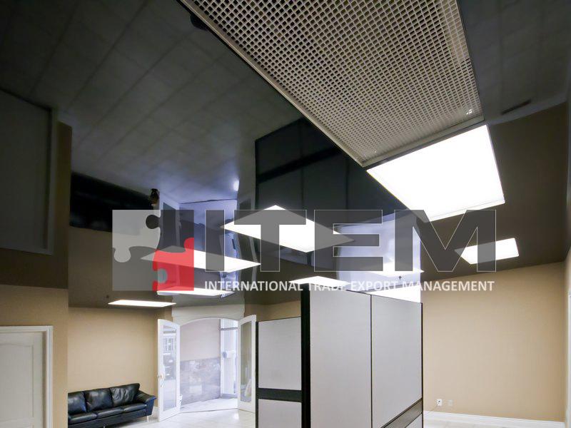 lake translucent ofis kombine difüzörlü gergi tavan uygulaması