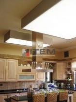mutfak sarkık armatür formlu gergi tavan uygulama