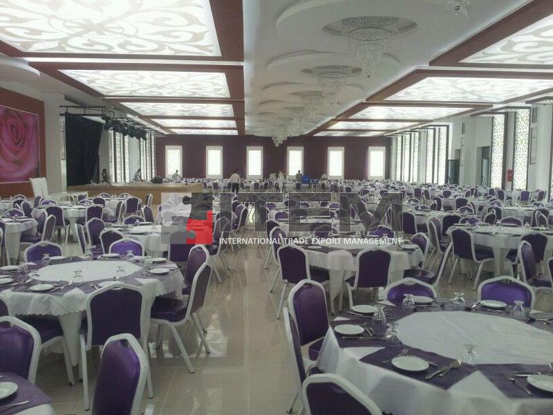 Kütahya Grand Çınar Hotel düğün salonu motif baskılı germe tavan uygulaması