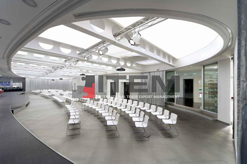 Eğitim salonu eliptik gergi tavan aydınlatma