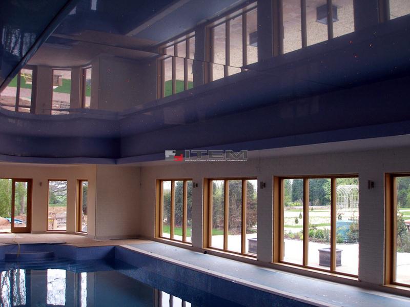 Kapalı yüzme havuzu lake gergi tavan uygulaması