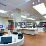 Teknoloji market gergi tavan aydınlatması