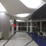 lobi alanı translucent üçgen form gergi tavan aydınlatma