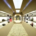 Ayakkabı mağazası perspektif tasarım gergi tavan aydınlatması