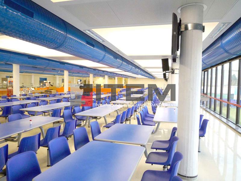 Yemek salonu gergi tavan aydınlatma