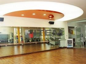 Spor salonu özel dairesel formlu translucent ve lake barisol gergi tavan uygulama