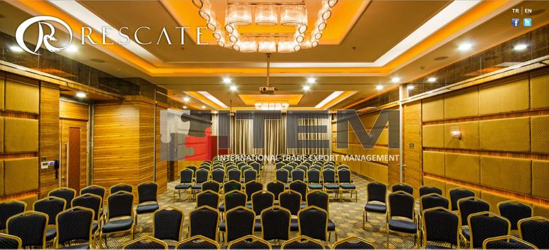 Recate hotel toplantı salonu barisol gergi tavan aydınlatması