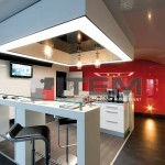 Ofis cafe bar translucent gergi tavan aydınlatması lake kombine