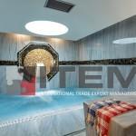 hotel spa jakuzzi üzeri dairesel barisol gergi tavan aydınlatması