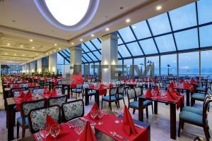 hotel yemek salonu eliptik barisol gergi tavan aydınlatması