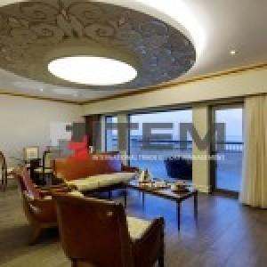 hotel kral dairesi avangard dairesel barisol gergi tavan aydınlatması 2