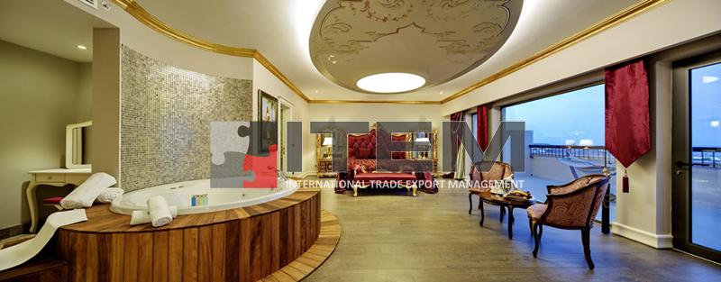 hotel kral dairesi avangard dairesel barisol gergi tavan aydınlatması