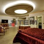 hotel kral dairesi dairesel barisol gergi tavan aydınlatması