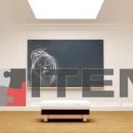 Galerilerde translucent barisol gergi tavan aydınlatma uygulaması