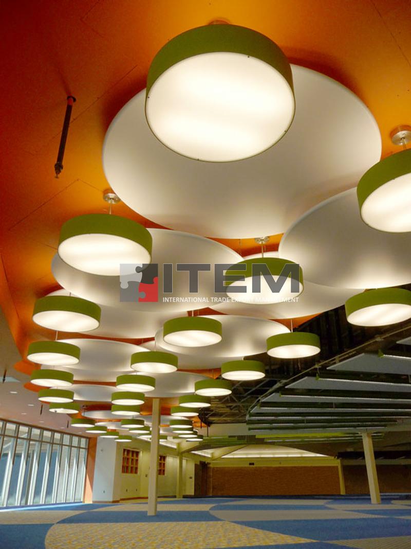 Armatür formlu difüzörlü gergi tavan barisol aydınlatma uygulaması