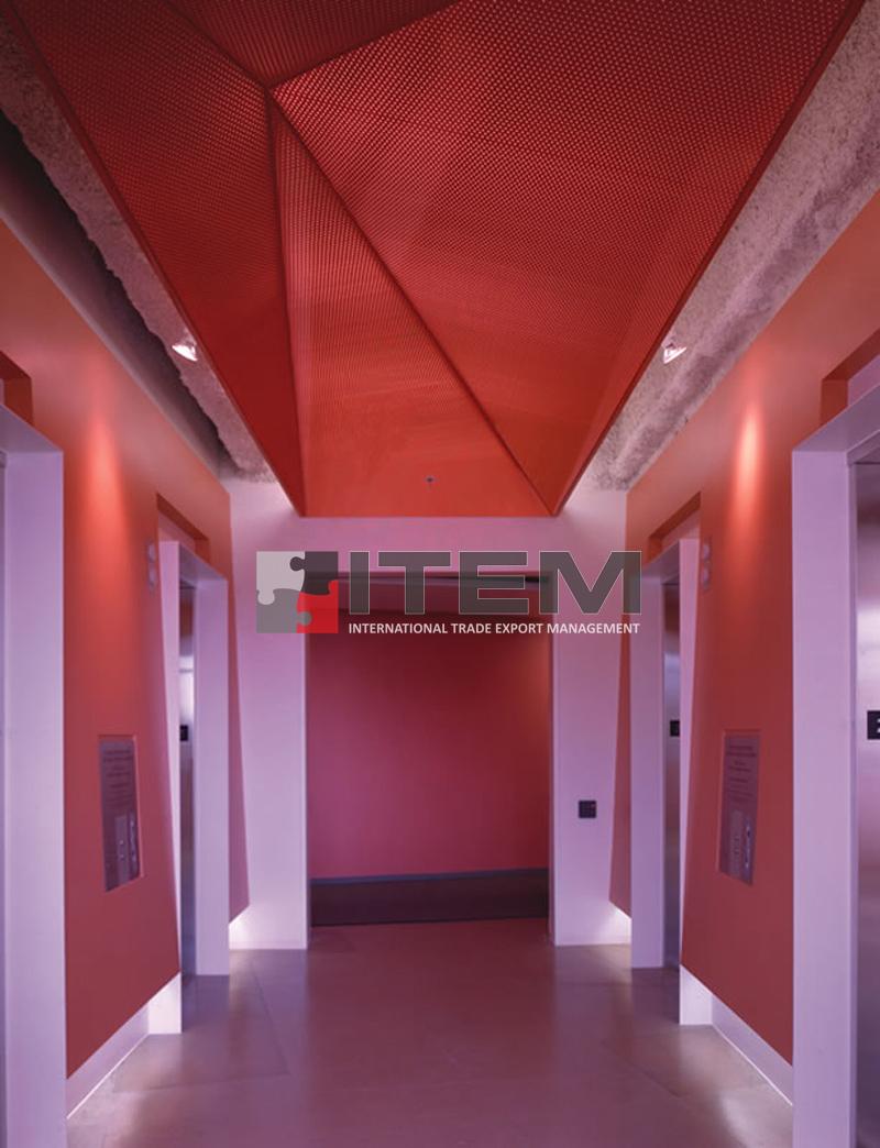 Perfore özel tasarım akustik gergi tavan uygulaması