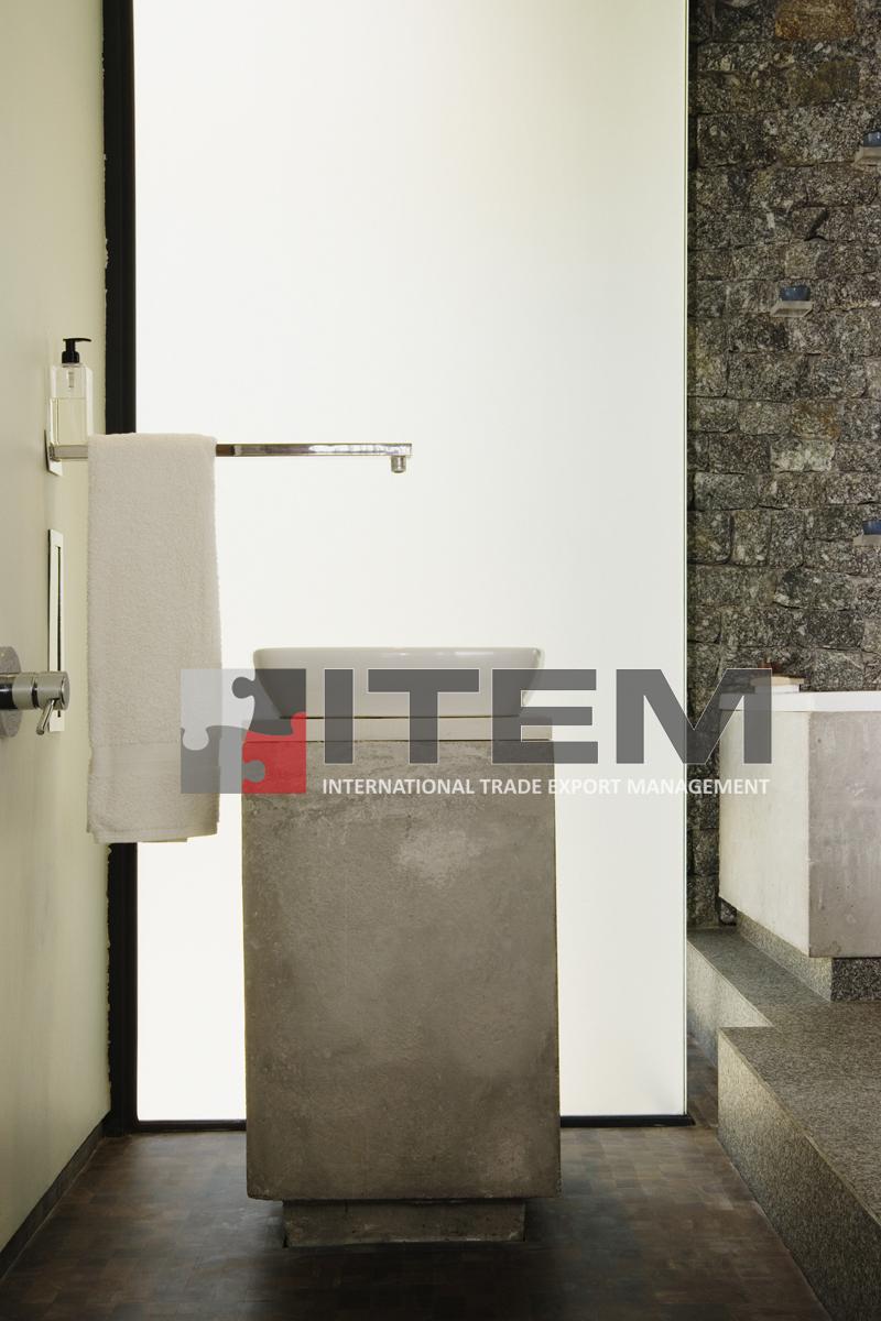Banyo ışıklı gergi tavan duvar uygulama