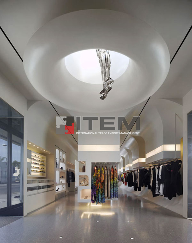 3D mağaza gergi tavan uygulaması