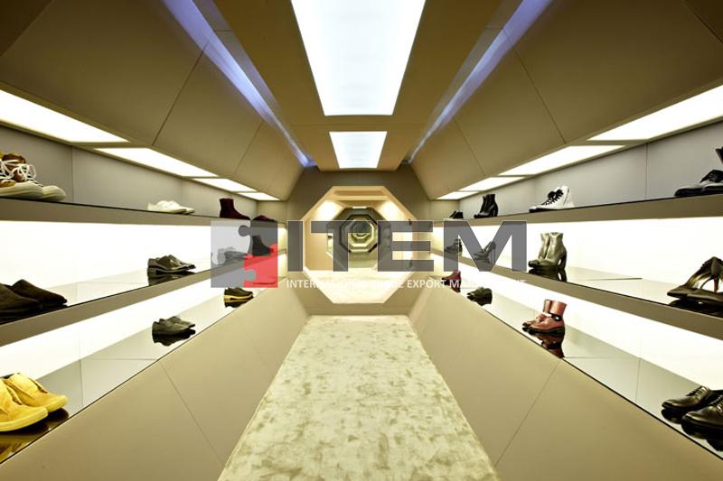 Ayakkabı mağazası perspektif gergi tavan uygulama