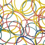 Studio Shot Of Multi Colored Rubber Bands