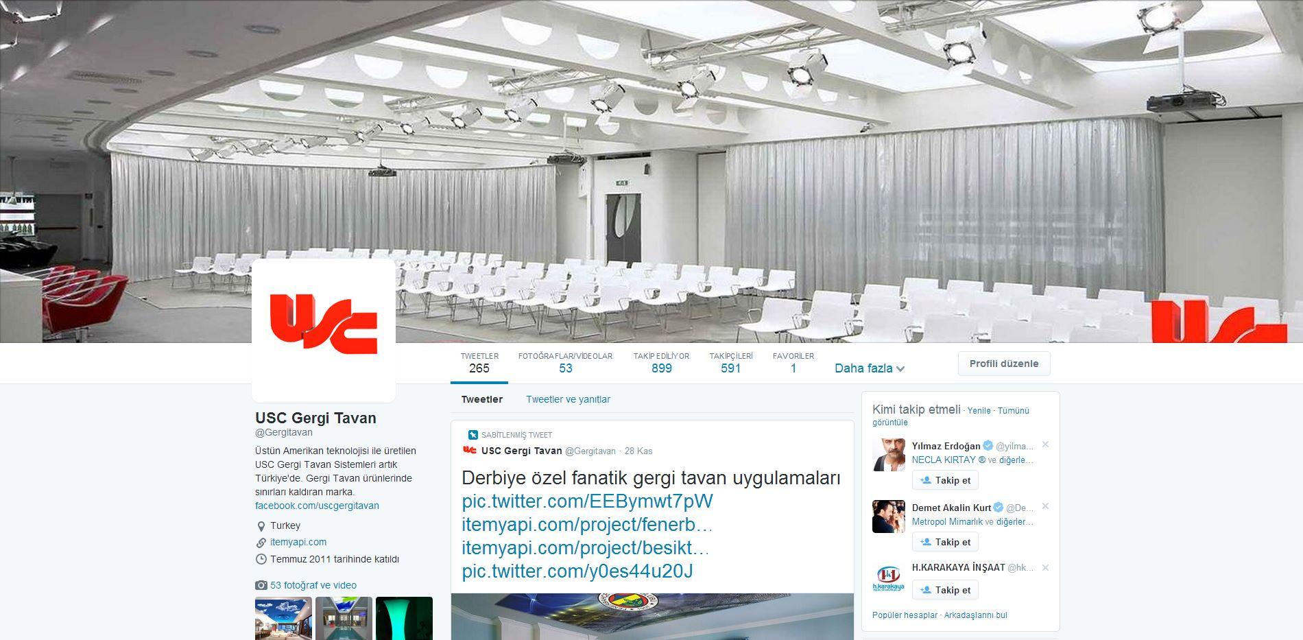 sosyal medyada item yapı gergi tavan sayfası