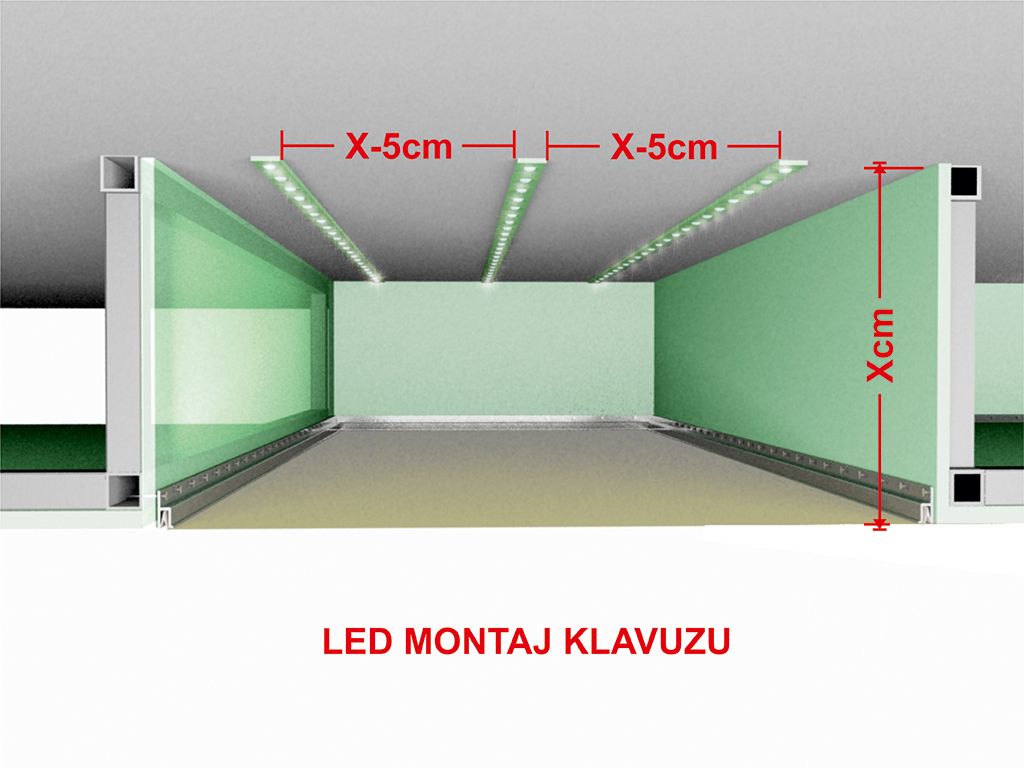 Gergi Tavan altı led aydınlatma montaj klavuzu