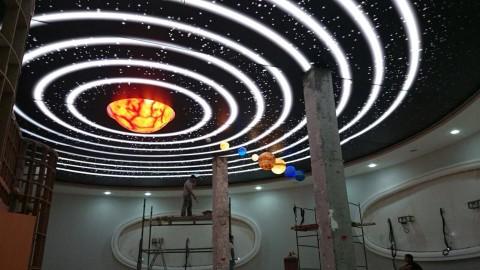 Türkmenistan-Türkmenabat Planetarium Gergi Tavan ve Güneş Sistemi Projesi