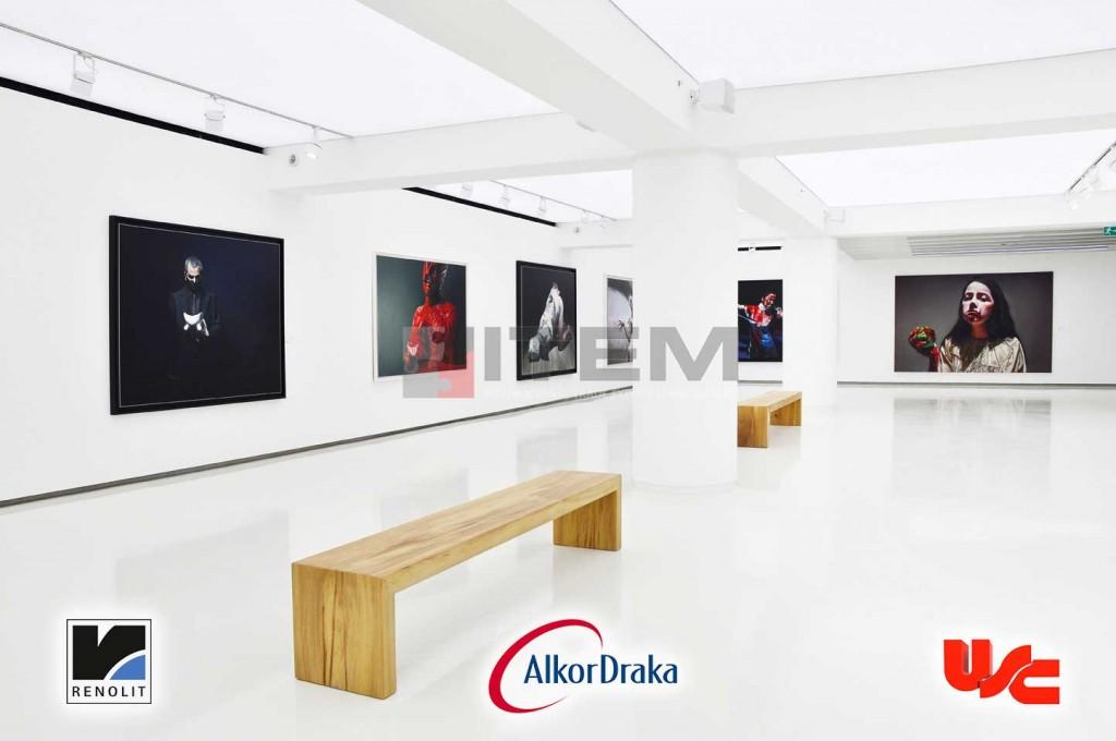 sanat galerisi gergi tavan led aydınlatma