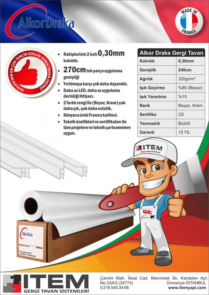 Fransız Barrisol Alkor Draka Gergi Tavan ürünleri