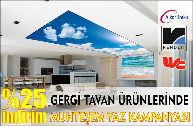 Gergi tavan kampanyası