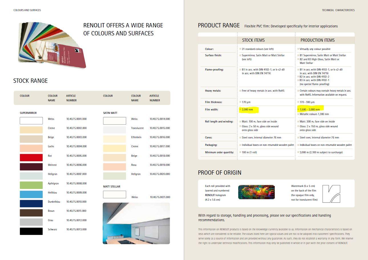 renolit gergi tavan ürünleri sistemleri