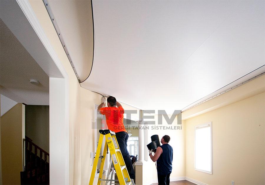 gergi tavan montajı nasıl yapılır